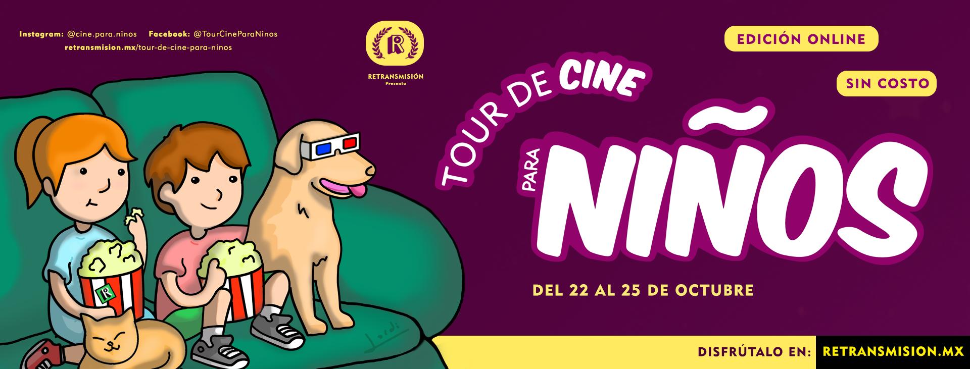 Banner Tour de Cine para Niños 3