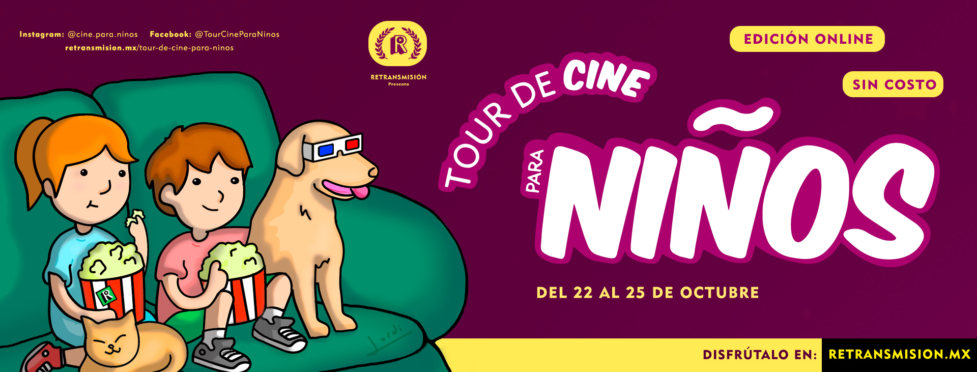 Poster--Jordi-Sitja-Floresr-Tour-de-Cine-Para-Ninos-Retransmision-2020-Mexico
